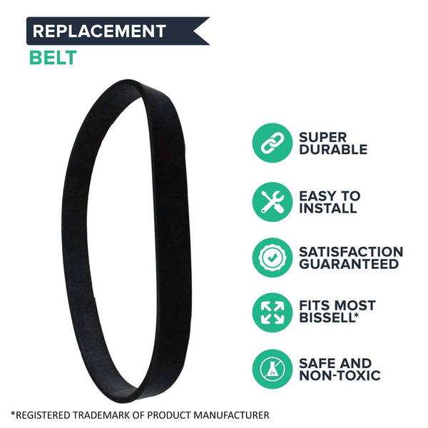 2pk Replacement Style 7, 9, 10 & 12 Belts, Fits Bissell CleanView & More, Compatible with Part 32074 & 3031120