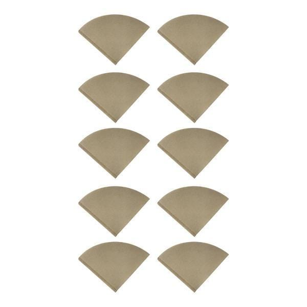 Replacement Unbleached Natural Brown Paper Coffee Filters, Fits Hario V60  Coffee Makers, Compatible with Part VCF-02100M