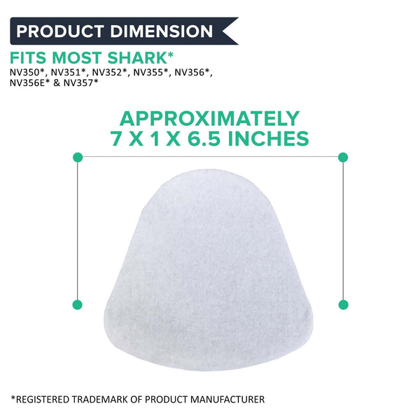 Crucial Vacuum Foam & Felt Filter Replacement Part # XFF350 XFF350NZ - Compatible with Shark - Fits Models NV350, NV350A, NV350E, NV350Q, NV350T, NV350W, NV350WC, NV350WM - Reduce Debris