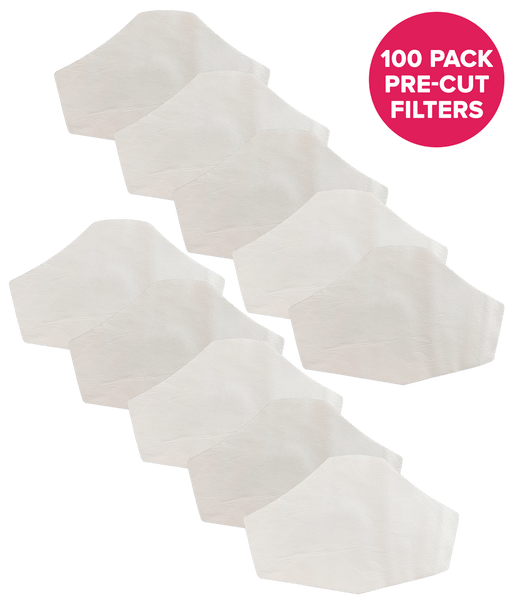 Buy a 100PK (Get 20PK Free) Premium Pre Cut Filters for Hedley & Bennett Face Masks