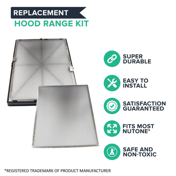 Think Crucial Replacement Hood Filters Compatible With Nutone Part #ACCGSFHP2, 1-Year Supply HEPA Style Pre Filter Kit Parts -Models: HF 1.0, HF 2.0, HF 3.0, HF 3.1, HR 2.5 and HR 2.6 (1 Pack)