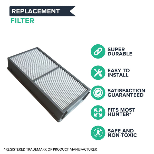 Replacement Air Purifier Filter Compatible with Hunter® Brand Filter Part # 30962, Models 30729, 30730, 30763, 36730