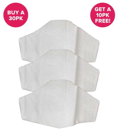 Buy a 30PK (Get 10PK Free) Premium Pre Cut Filters for Hedley & Bennett Face Masks