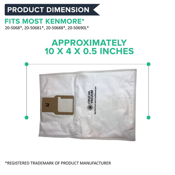 9pk Replacement Cloth Bags, Fits Kenmore 50688 & 50690, Compatible with Part 20-5068 & 20-50681