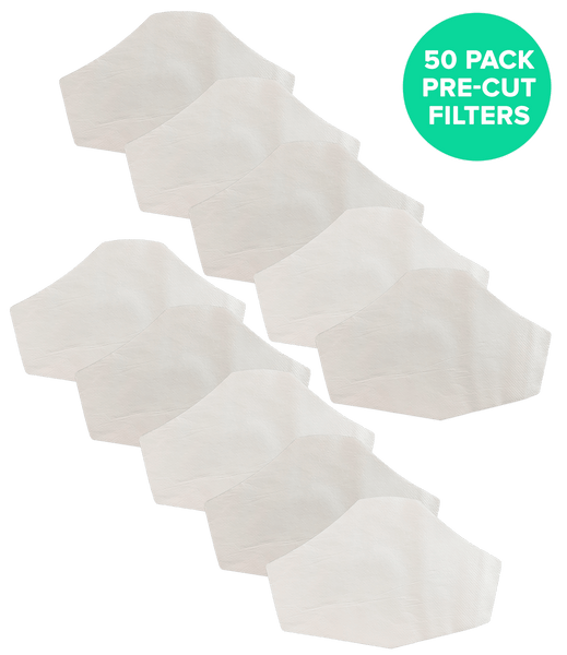 Premium Pre Cut Filters for ALL Face Masks with Filter Pockets 6.5 x 4.3 IN