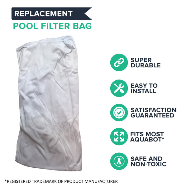 2pk Replacement Filter Bags, Fits Aquabot Pool Cleaners, Compatible with Part 8111 & 8101