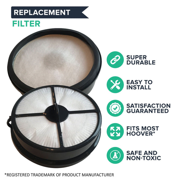 Crucial Vacuum Filter Replacement Parts Compatible With Hoover Part # 303902001 - Fits Hoover WindTunnel Air HEPA Style Filter Fits Model UH70400 - Ideal For Home, Vacuums Filters Use