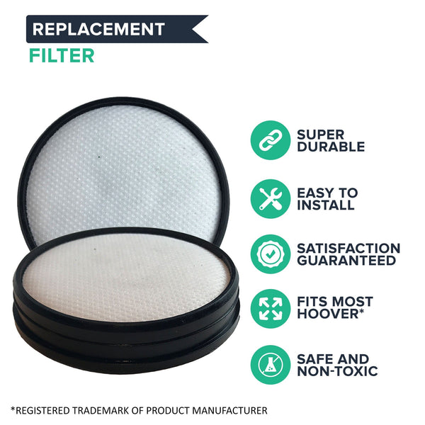 Replacement Air Model Filter Kit Includes: 1 HEPA Style Filter & 1 Primary Filter, Fits Hoover, Compatible with Part 303902001 & 303903001