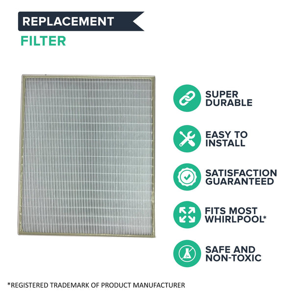 2pk Replacement Air Purifier Filters, Fits Whirlpool AP450 & AP510, Compatible with Part 1183054
