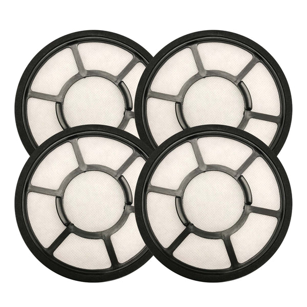 Think Crucial Replacement Air Filters - Compatible With Black & Decker Filter Part BDASV102 - Models 5.5 x 5.5 x 1 - Circular Pre-Filter Part, Fits Vac Models Airswivel Vacuum Cleaners, Bulk (4 Pack)