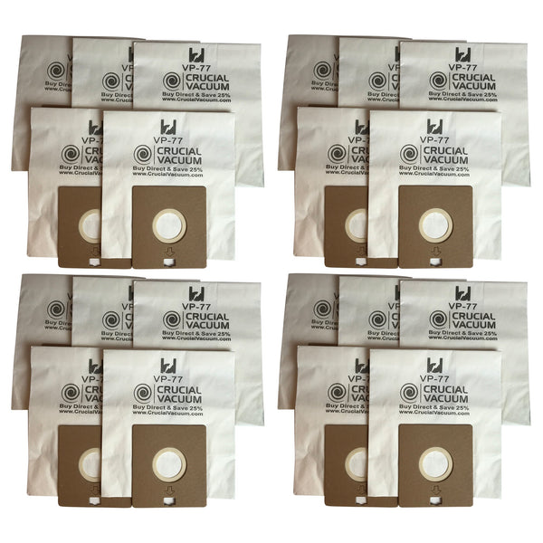 20pk Replacement VP-77 Vacuum Bags, Fits Bissell DigiPro, Propartner & More, Compatible with Part 203-2026, 32023 & 32115