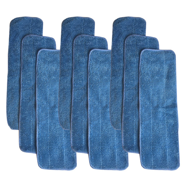 9pk Replacement Microfiber Mop Pads, Fits Bona Mops, Washable & Reusable, Compatible with Part AX0003053