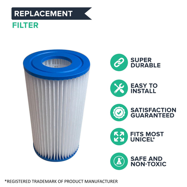 Replacement Pool Filter, Fits Filbur FC-3710, Pleatco PC7-120, Unicel C-4607
