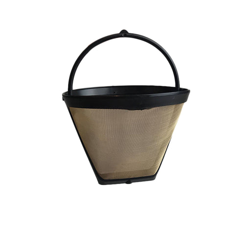 Think Crucial Replacement Compatible with Cuisinart GTF4 Gold Tone Coffee Filter Fits DCC-450, Washable & Reusable