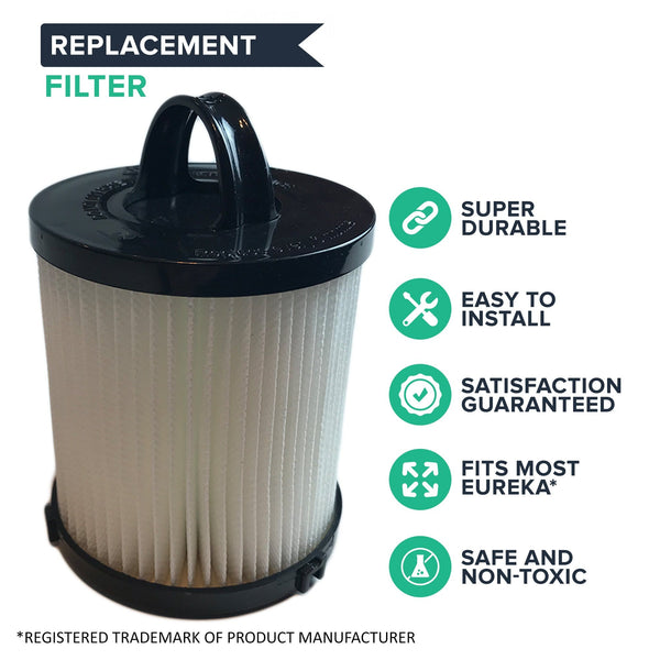 Crucial Vacuum Air Filter Replacement - Compatible With Eureka Part # 67821, 68931, 68931A, EF91, EF-91, EF-91B, DCF-21, DCF21 - Models 4236AZ, 4235AZ, 4236AZ, SA3276AZ, UK4236AZ, UK4237AZ