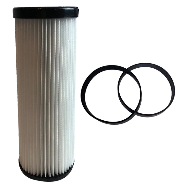 Replacement F1 Filter & 2 Style 4 5 10 Belts, Fits Dirt Devil, Compatible with Part 3JC0280000, 1540310001, 3720310001 & 3860140600
