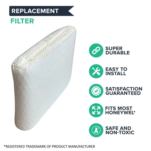 Think Crucial Humidifier WIck Filter Replacement - Compatible With Honeywell Air Filters Part # HAC-504AW, HAC-504 - Models HCM-300T, HCM-305T, HCM-310T, HCM-315T, HCM-350