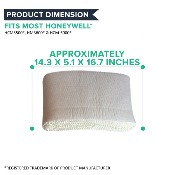 Replacement Humidifier Filter, Fits Honeywell HCM3500, HM3600 & HCM-6000, Compatible with Part HC-14