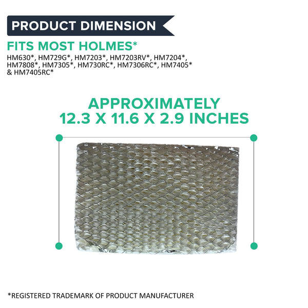 Crucial Air Filter Replacement HWF100 Parts Compatible With Holmes Part # HWF-100 - Fits HM7204, HM7305, HM7305RC, HM7306, HM6000, HM6000RC, HM6600, HM6005HD, HM729, HM4600, HM4600HD, HM630