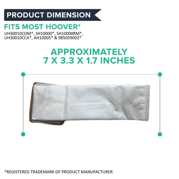 Replacement I Vacuum Bags, Fits Hoover, Compatible with Part AH10005