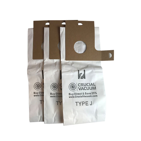 Crucial Vacuum Replacement Style J Bags Part # 61515C - Compatible With Eureka Vacuums and Models 2270, 2271, 2272, 2273, 2275, 2900, 2901, 2903, 2904, 2905, 2920, 2924, 2926
