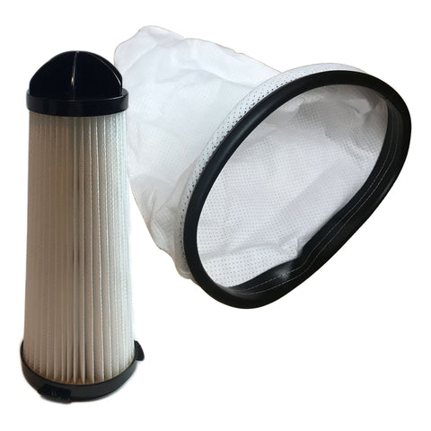 Replacement Filter & Cloth Reusable Vacuum Bag, Fits Hoover C2401 Backpack Vac, Compatible with Part 2KE2105000 2-KE2105-000, Washable & Reusable