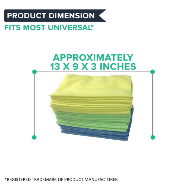 24PK Multi-Surface Microfiber Towel Cleaning Cloths, 16x12