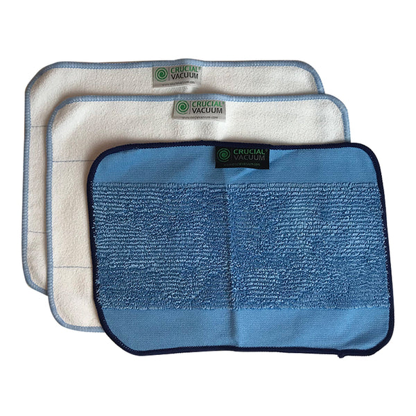 3pk Reusable Microfiber Cleaning Pads Perfect for us as Napkins & Paper Towels