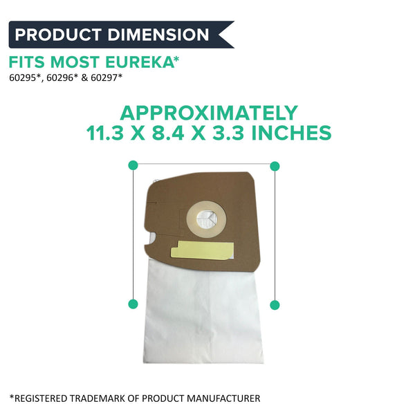 27pk Replacement Style MM Bags, Fits Eureka, Compatible with Part 60295, 60296 & 60297