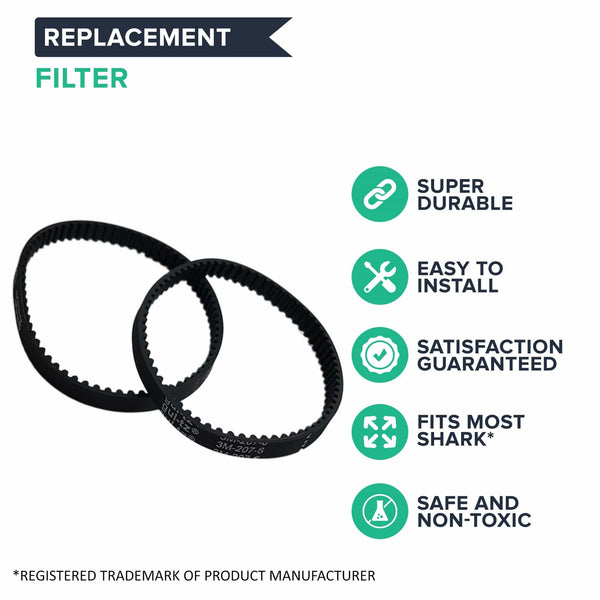 Replacement Belts, Fits Shark NV350, HV400 & NV500 Series