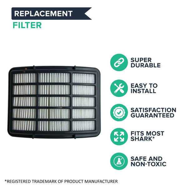 Crucial Vacuum Replacement Vacuum Filter - Compatible with Shark Models NV350 NV351 NV352 NV355 NV356 NV356E - Pair with Part # F651 XHF350 EUR-1804 EU-18027 For Long Life, Washable, Reusable