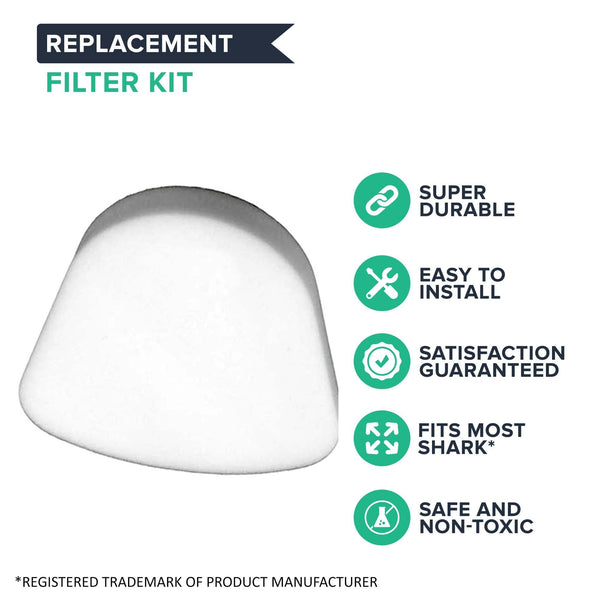 Replacement HEPA Style Filter, Foam & Felt Filter Kit, Fits Shark Navigator Lift-Away Series, Compatible with Part XHF350 & XFF350