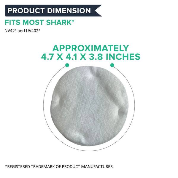 Replacement Foam & Felt Filter Kit, Fits Shark NV42 & UV402 Navigator Upright, Compatible with Part XFF36