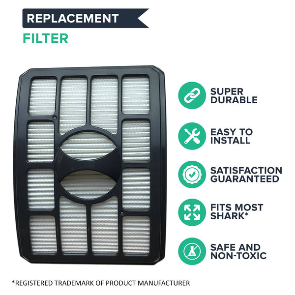 Crucial Vacuum Filter Replacement Parts Compatible With Shark Part # XHF500 - Fits Rotator Pro Model NV500 - HEPA Style Filters- Captures Mites, Pollen, Household Dust, Particles - (1 Pack)