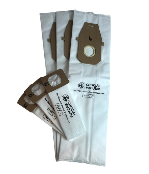 3pk Replacement Q & 3 I Vacuum Bags, Fits Hoover, Compatible with Part AH10000 & AH10005