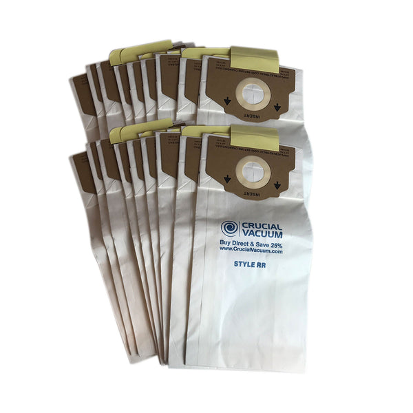18pk Replacement Paper Vacuum Bags, Fits Eureka RR, Compatible with Part 61115-12, 61115, 61115A, 61115B, 61115C & 63295A