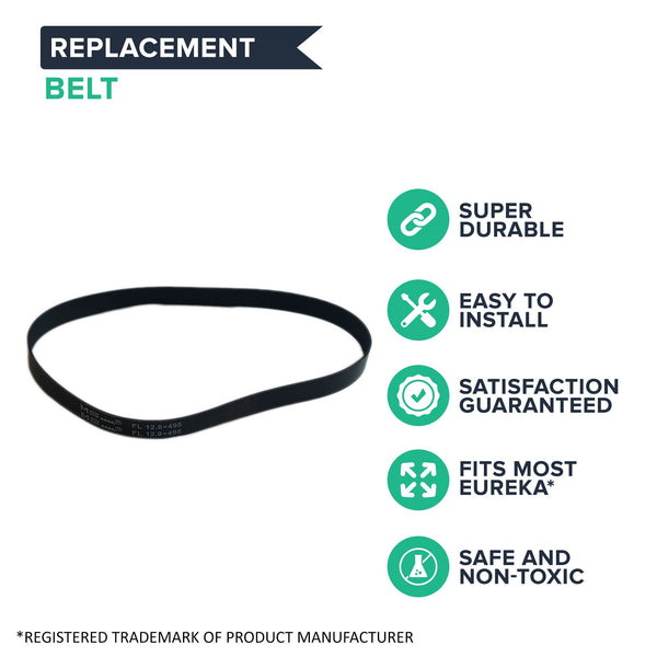 2pk Replacement Style R Vacuum Drive Belts, Fits Eureka, Compatible with Part 67110 & 61110