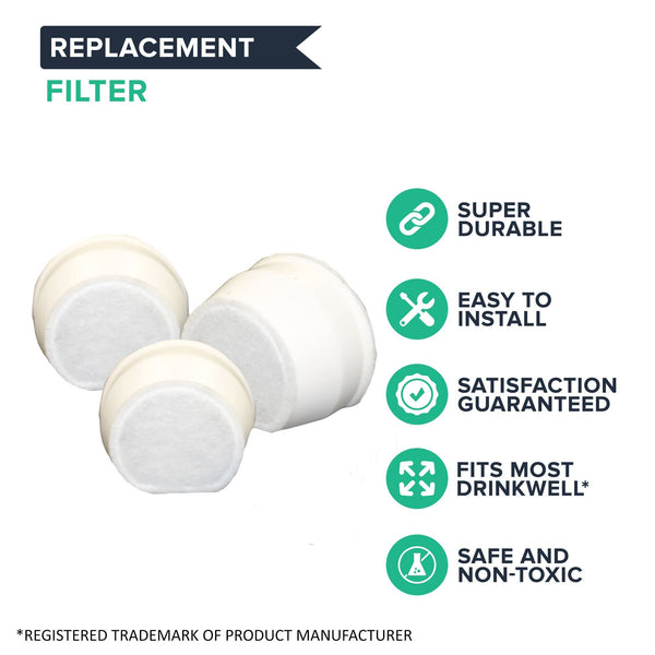 2pk Replacement Charcoal Filters, Fits Drinkwell Avalon, Pagoda & Sedona Pet Fountains
