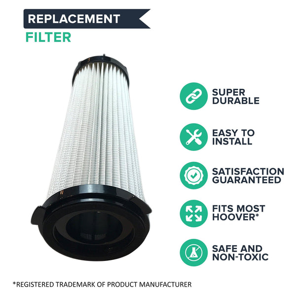 Replacement HEPA Style Filters, Fits Hoover C2401 Shoulder Vac, Washable & Reusable, Compatible with Part 2KE2110000