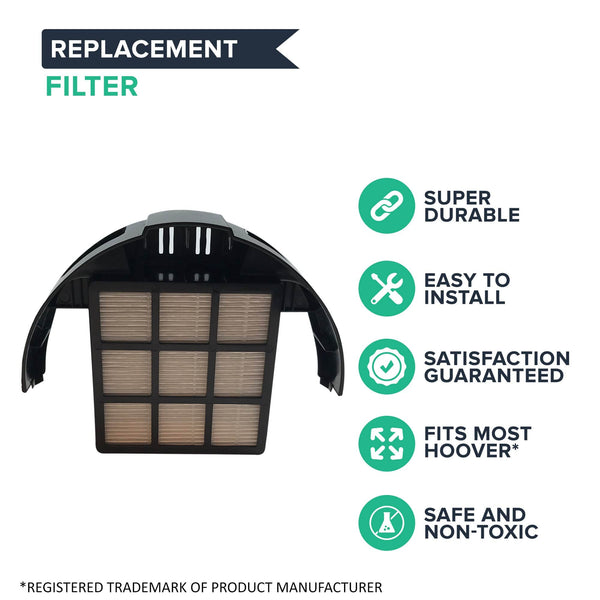 Replacement HEPA Style Filter, Fits Hoover Windtunnel T-Series, Compatible with Part 303172001 & 303172002