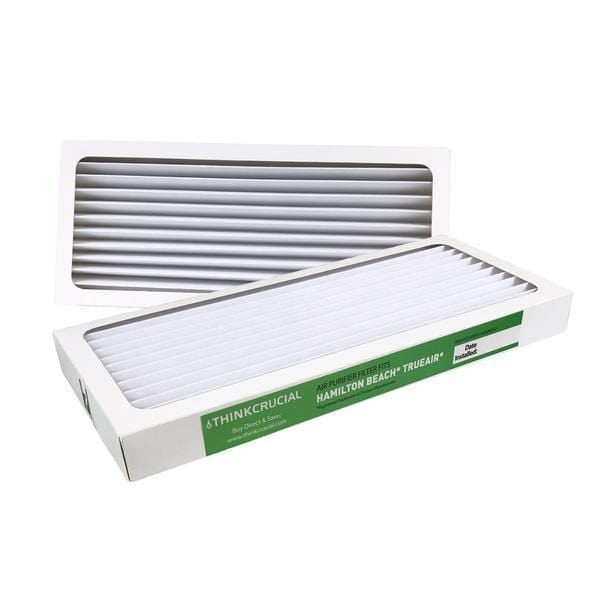 Crucial Air Filter Replacement Parts Compatible With Hamilton Beach True Air Part # 990051000 - Fits Vacuum Models 04383, 04384, 04385 - HEPA Style Filters Capture Mites, Pollen, Household Dust