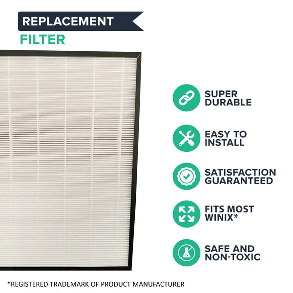 Air Purifier Filter & Carbon Filter Fits Winix J, Models HR950 & HR1000, Compare to Part # 117130