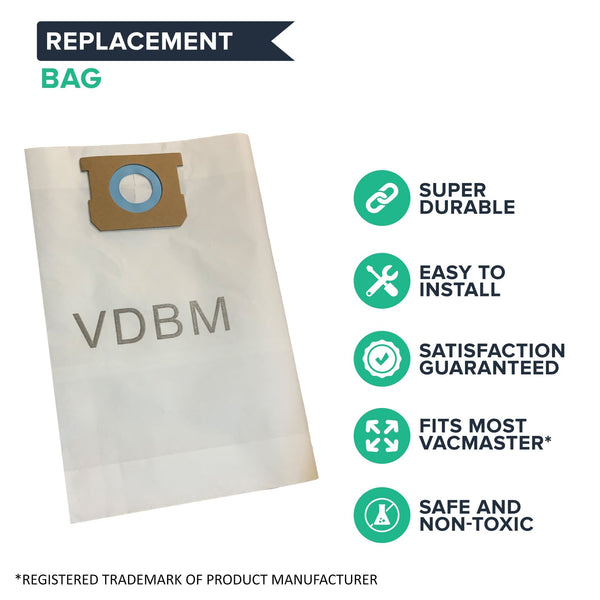 3PK Replacements for Vacmaster 8-10 Gallon Vacuums Fit VDBM