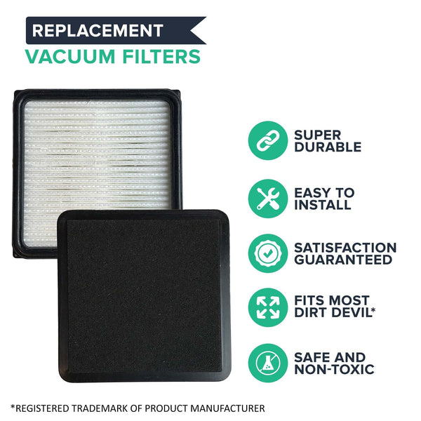 Replacement F66 Filter & Foam, Fits Dirt Devil, Compatible with Part 304708001
