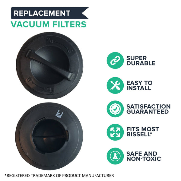 4pk Replacement 23T7 Inner & Outer Filters, Fits Bissell Easy Vac & PowerForce, Compatible with Part 203-7593