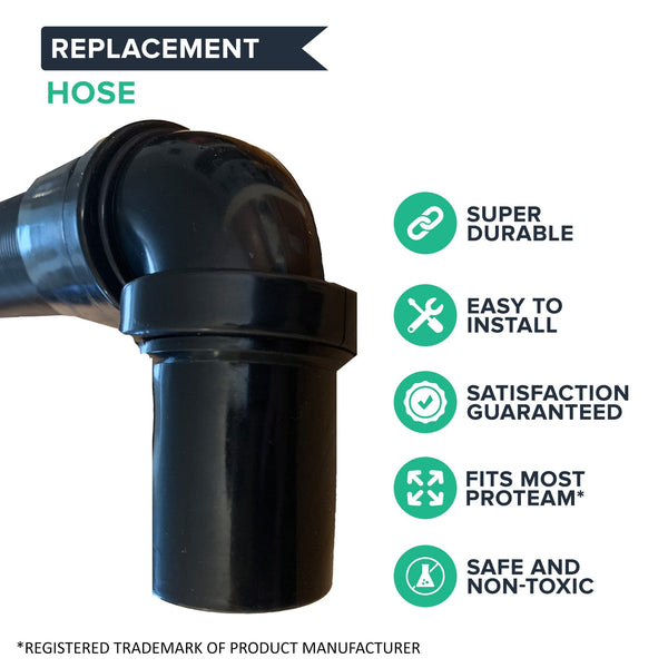 Think Crucial Backpack Vacuum Hose Replacement Part Compatible With ProTeam(™) Part#103048 - Static Dissipating Hose with 1-1/2-inch Cuffs (1 Pack)