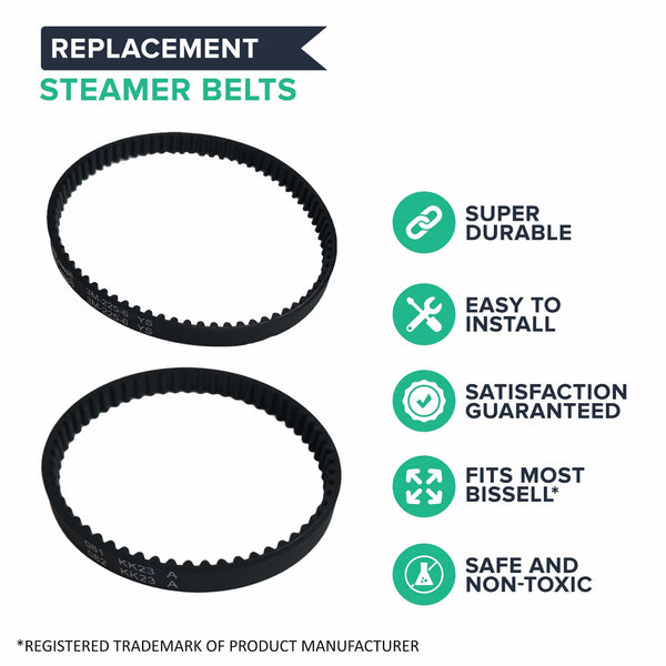 2pk Replacement Belt Kit, Fits Bissell ProHeat 2X, Compatible with Part 203-6688 & 203-6804