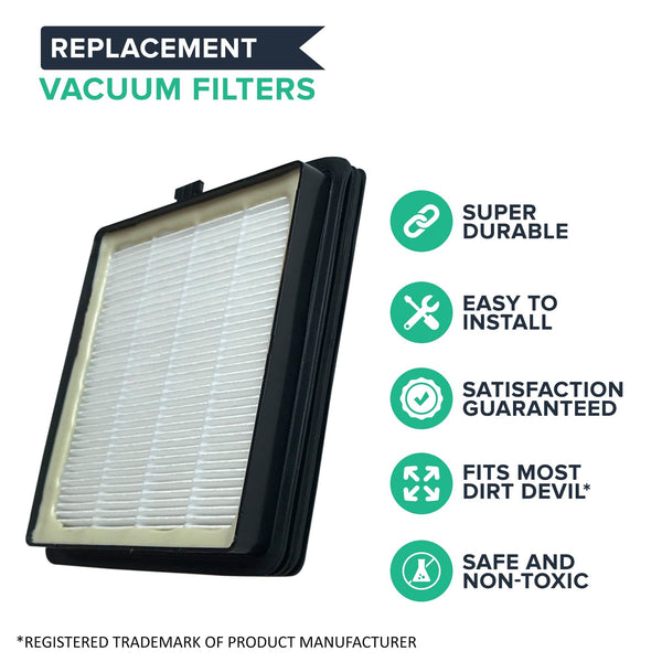 Crucial Vacuum Replacement Vacuum Filter Compatible With Dirt Devil Vacs - Part F45 - Fits Models Pets Canister SD40000, EZ Lite Canister SD40010, Parts 2KQ0107000 2-KQ0107-000 F45 F-45
