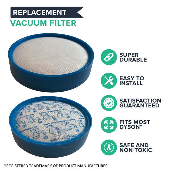 Crucial Vacuum Air Filter Replacement - Compatible with Dyson DC25 HEPA Style Filters - Pair with Part # 914790-01 & 919171-02 For Long Life - Lightweight, Compact, Washable and Reusable (1 Pack)