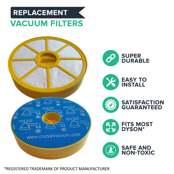Crucial Vacuum Pre-Filter Replacement Compatible with Dyson DC-14 - Replaces Pre-Motor Filter Part 905401-01, 90540101 - Perfect For Home or Office and Cleaner For Purified Healthier Air
